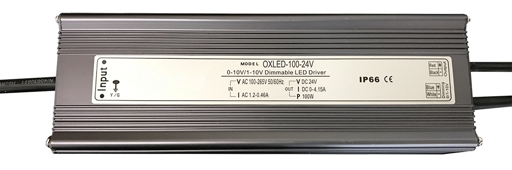 0-10V DC Dimmable LED Driver - OXLED-100-24V